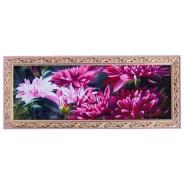 Картина Рожеві хризантеми 15*42см