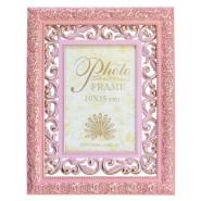 Рамка 10*15 ажурна комбінована рожева