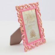 Рамка 10*15 ажурна рожева