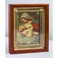 Ікона Кіот №6 15*20см Матір Божа Годувальниця