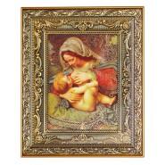 Ікона Кіот №12 15*20см Матір Божа Годувальниця
